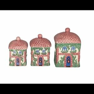 Avon Country Cottage Canister 3Pc Set